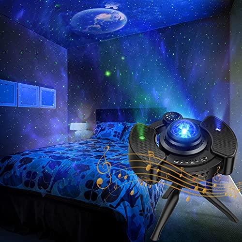 KPCB Sternenhimmel Projektor Lampe ohne Rauschen, 22 Projektionsmodi Sternenhimmel, Bluetooth-Modus, für Raumdekoration, Heimkino-Beleuchtung oder Schlafzimmer-Nachtlicht-Stimmungsambiente
