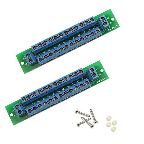 Preisvergleich Produktbild Evemodel 2X Power Distribution Board Stromverteiler 2 Eingänge 13 Paare Ausgänge für DC AC Spannung PCB007-2-EU