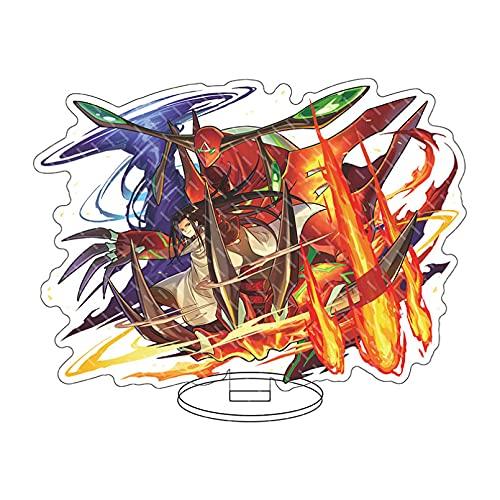 アニメフィギュアモデルおもちゃギフト、15cmシャーマンキングスタンドモデルプレート麻倉葉阿弥陀丸ぼくとうの竜小山田まん太アクリル両面立ち飾りギフト