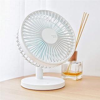 Ventilador de mesa con batería, silencioso ventilador con carga USB, ideal como ventilador de mesa en la oficina o en casa en el dormitorio