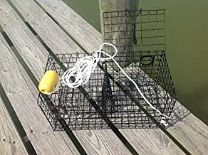 Maryland Blue Crab Pot Trap Chesapeake Atlantic Blue Crab PVC Coated Metal Heavy Duty