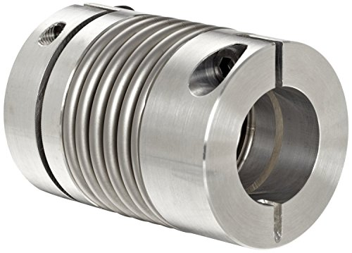 Lovejoy 77015 Size BWLC-78 Bellows Clamp Style Coupling, Complete Coupling, Metric, 15 mm Bore A, 15 mm Bore B, 2.598