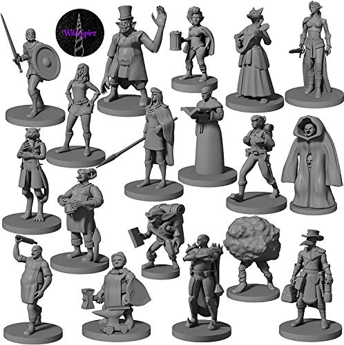 18 Miniatures Townsfolk Heroes NPC - for DND Miniatures D&D Miniatures Dungeon and Dragons Miniature Figures | Dungeon and Dragon 5th Edition Figurines | DND Minis 5e