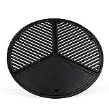 BBQ-TORO Set Plancha in acciaio inox con griglia e piastra | Ø 54,5 cm | Griglia in ghisa con 3 zone | Adatto per barbecue a sfera da 57 cm