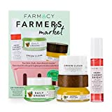 Farmacy Farmer's Market Skincare Gift Set - Mini Sizes of Facial Skin Care Products - Includes Green Clean Makeup Remover and Honey Potion