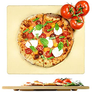 Crustina Pizza Stone Rectangular - 14  x 16  - Baking Stone, Best Pizza Stone for Oven and for Pizza on the Grill, Pizza Cooking Stone Fits All Standard Oven and BBQ