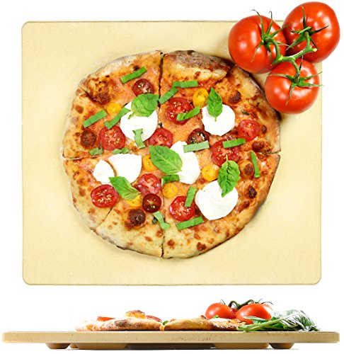 """Crustina Pizza Stone Rectangular - 14"""" x 16"""" - Baking Stone, Best Pizza Stone for Oven and for Pizza on the Grill, Pizza Cooking Stone Fits All Standard Oven and BBQ"""