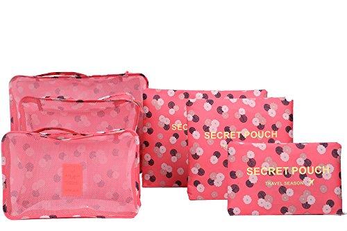 Confezione di indumenti e sacchetti da imballaggio, di bagaglio da viaggio Organizer per borsa Rosa Pink Daisy