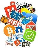 Top Stickers !  Lot de 50 Stickers Geek Informatique - Autocollant Top Qualité Non...