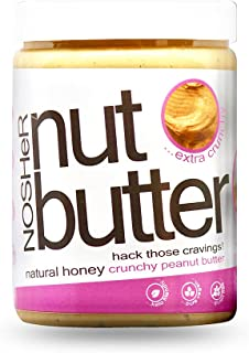 NOSHeR Natural Honey Crunchy Peanut Butter, 1kg..Zero Trans Fats, Zero Cholesterol