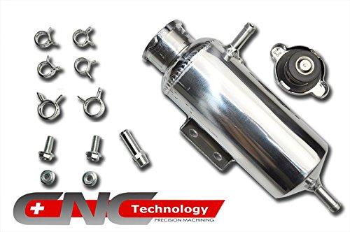 Enfriador de 350 ml de botella de expansión de agua de aleación de aluminio universal para coche