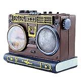 LYMUP Retro Decoración de la Decoración Estatuillas Vieja Radio Piggy Bank Decoración del hogar Ornamentos Resina Artesanía Memorial Colección Moda Regalo