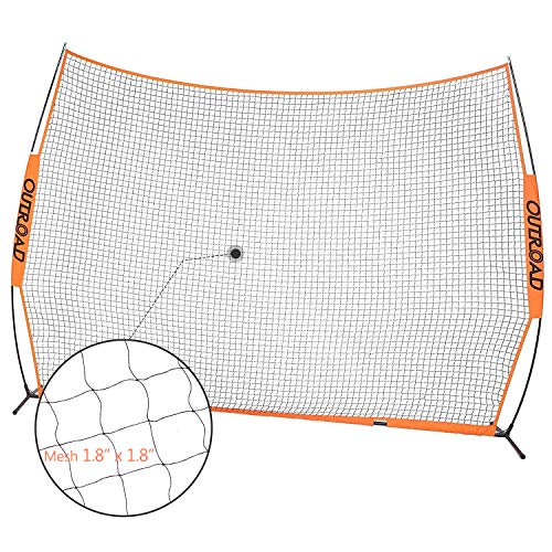 Outroad Baseball Nets Batting and Pitching 12' x 9' Portable Practice Net with Bow Frame and Strike...