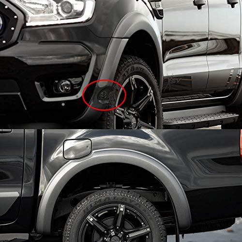 JHCHAN Radlauf Kotflügel Kotflügelverbreiterungen für Ford Ranger Wildtrak T8 2019-2020 PX MK3 XL XLT Limited 2 (T8 2019-2020 (MIT LOCH))