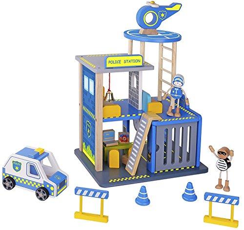 Pidoko Kids Police Station Playset -...