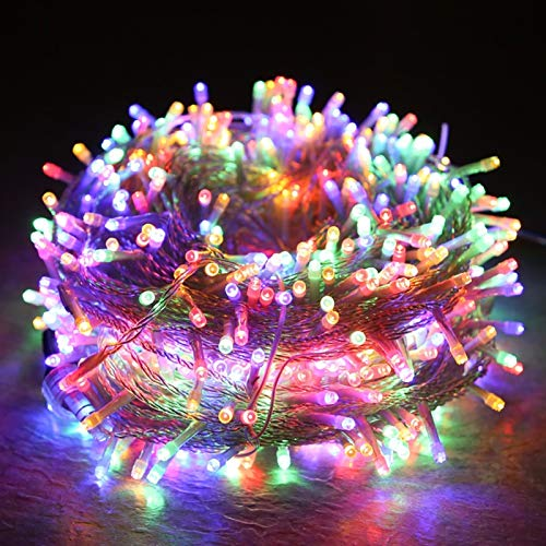 Led String Lights with Remote Control,5 Modes Waterproof Led Curtain String Light for Indoor Outdoor Halloween Christmas Wedding Party Decorations