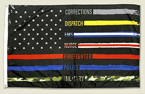 FlagSource Nylon Patriotic Flag First Responder 2x3'