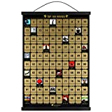 100 Movies Scratch Off Poster includes Poster Frame 17' Long (Black) - The...