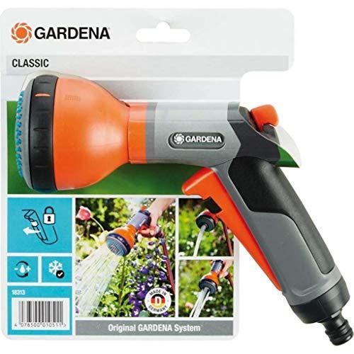 Gardena Classic Multibrause: Gartenbrause zur Bewässerung von Topfpflanzen und Beeten, 3 Wasserstrahlformen, Frostschutz, Einhandbedienung (18313-20)