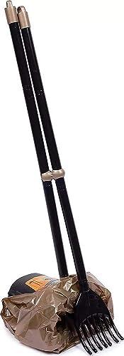 Arm & Hammer Swivel Bin & Rake Pooper Scooper Scented Bags Included One Size Black/Penny
