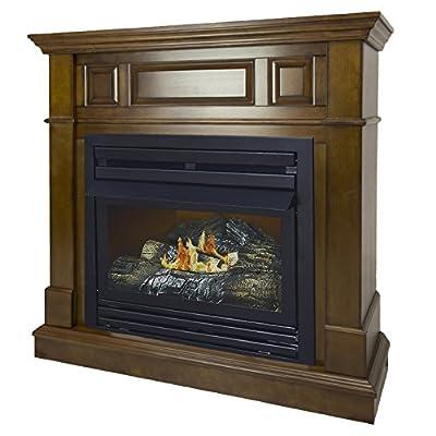 Pleasant Hearth 42 Intermediate Natural Gas Vent Free Fireplace System 27,500 BTU, Rich Heritage