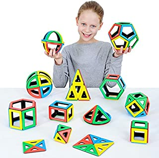 Polydron Magnetic Mathematics Set Educational Construction Toy Suitable for Children 3+ Years Old