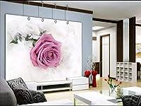 XSJ 壁紙不織布ソファ寝室TV背景カスタム壁画、パペルデパレード壁紙、3D壁壁画壁紙-430X300CM