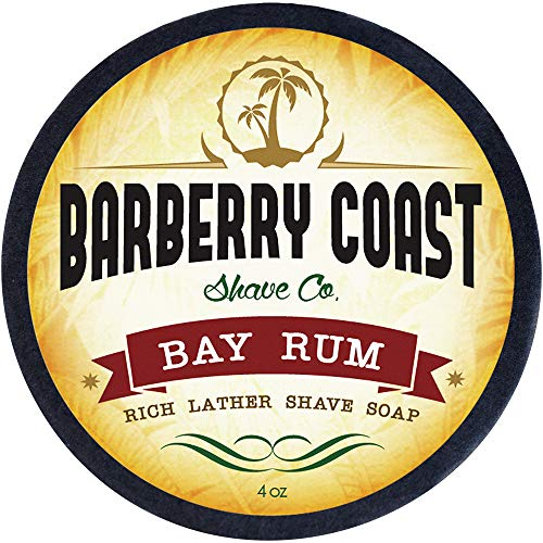 Bay Rum Shave Soap for Men - Rich, Slick & Thick Lather - High-Performance