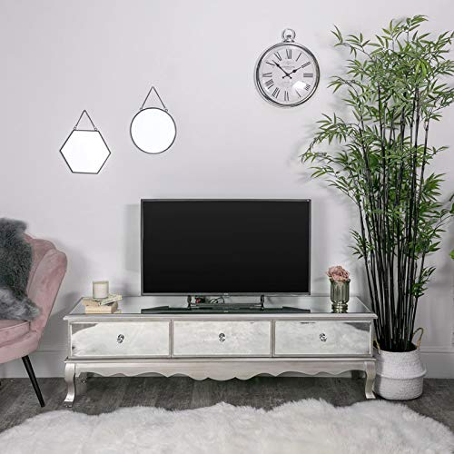 Melody Maison Large Mirrored Storage TV Cabinet - Tiffany Range