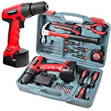 Complete <span class='highlight'>Power</span> and <span class='highlight'>Hand</span> Tool Kit with Drill Driver, Hi-Spec DT30320, 9.6V 1200mAh Cordless Drill Electric Screwdriver and Tool Set for Household DIY, 26 Pieces