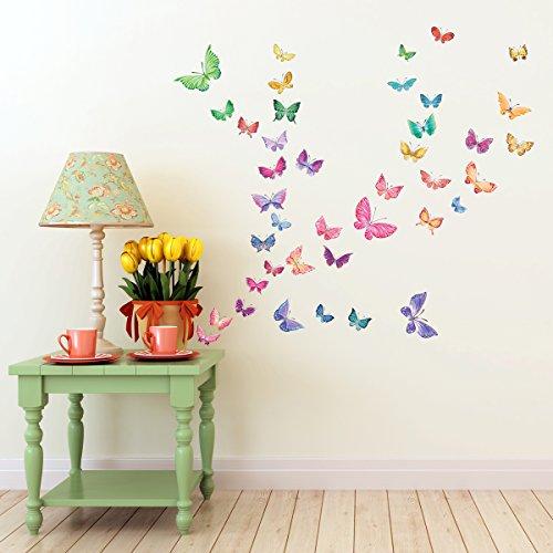 Mural Papillons Macchiato Chambre Enfant Deco Set