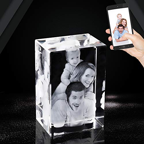 3D Crystal Photo Laser Etched Engraving