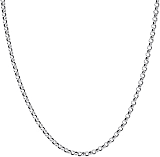 "W WOOGGE 4mm Circle Link Chain Choker Necklace - 14""/16""/18""/20"" Dainty Thin Necklace Chain for Women Men Kids Girls Boys"