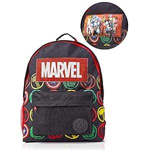 513iYI0WSJL. SS300  - Marvel Avengers Mochila Infantil Marvel, Mochila Escolar Holográfica Capitán América Thor Hulk Iron Man para Niños, Mochila Colegio Avengers Infantil Viaje, Fans de la Marvel