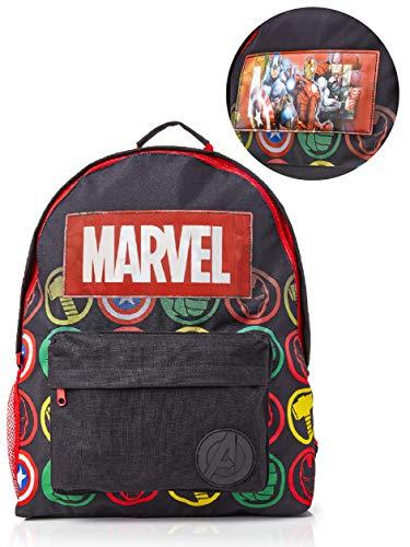 Marvel Avengers Rucksack, Kinder Schulranzen, Rucksack Holographic Logo, Tolle Schultasche Für Kinder Und Jugendliche, Schulrucksack Jungen, Backpacker Rucksack Kids, Mädchen Kinderrucksäcke Schule