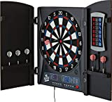 Fat Cat Mercury Electronic Dartboard, Built In Cabinet Doors With Integrated Scoreboard, Dart Storage For 6 Darts, Dual...
