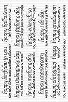 DIYスクラップブッキングフォトアルバム用のハッピーエブリシング透明クリアシリコンスタンプシール装飾クリアスタンプA1306