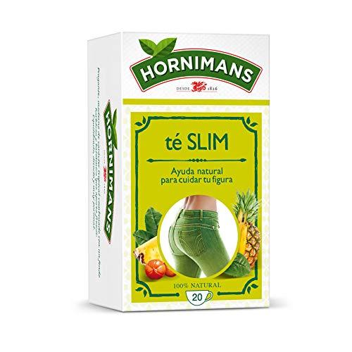Hornimans Té Slim Té Verde, Guaraná y Pina, 20 Bolsitas