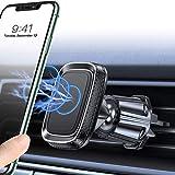 Miracase Support Téléphone Voiture, [6 Aimants] Porte Telephone Voiture Magnétique à Grille d'aération Compatible avec iPhone Se 11 XR XS Max Samsung S8/S9/S10+ (Noir)
