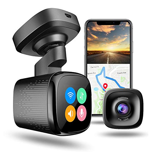 JOMISE 1600P 60FPS Dash Cam with Built-in Wi-Fi GPS Parking Monitor, Ahead Car Move Reminder,Traffic...