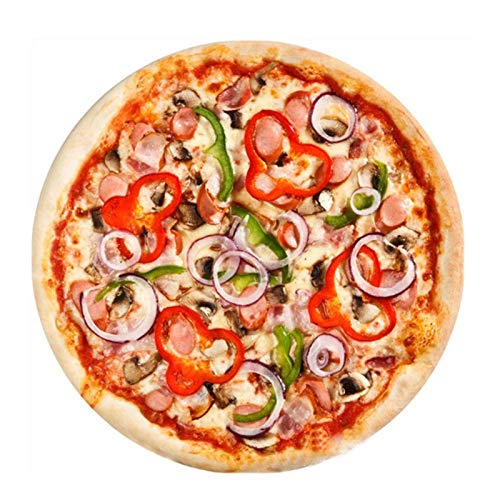 Liveinu Comida Ronda Gigante Pizza Manta Dormitorio Sofá Blanket Capa Viajes Playa Alfombra Picnic Toalla Baño Alfombra Juguetes Los Niños Interiores Exteriores Moqueta 180x180cm Pizza