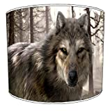 12 Inch Ceiling Wolf lampshade 17