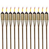 AUTHENTIC TIKI BAMBOO TORCHES: These feature an island-inspired design crafted from all-natural, renewable bamboo and stand 57 inches tall. EASY & MESS FREE: Each torch comes with a 12-oz. Easy Pour Wide Mouth Canister for fewer spills, less mess and...