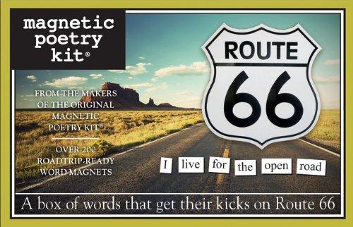 Magnetische Poëzie - Route 66 Kit - Woorden voor Koelkast - Schrijf gedichten en brieven op de Koelkast