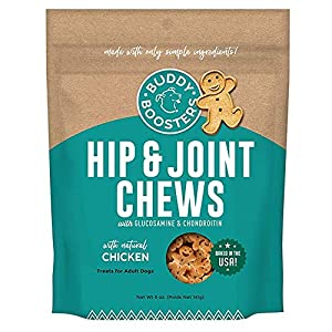 Buddy Biscuits Boosters, Soft & Chewy Dog Treats with Glucosamine & Chondroitin for Happy Hips, Chicken 5 oz.