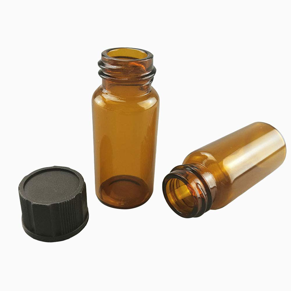 Adamas-Beta 100Pcs Glass Sample Vial Cap with Screw Cheap super special price Directly managed store Bott