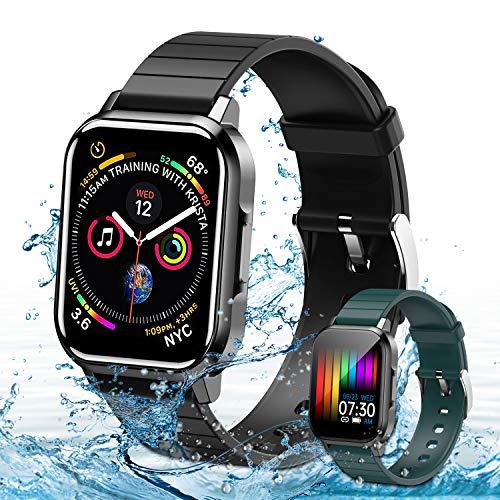 Smartwatch,Fitness Armbanduhr mit Blutdruck Messgeräte,Pulsoximeter,Pulsuhren Fitness Uhr Wasserdicht IP68 Fitness Tracker Schrittzähler Uhr für Damen Herren Smart Watch