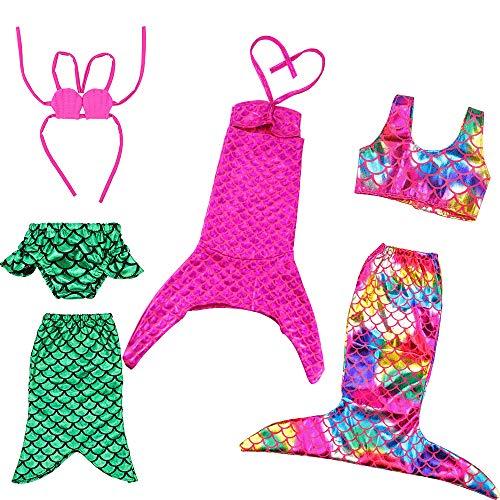 BARWA 18 Inch Doll Clothes Accessories 3 Sets Princess Mermaid Tail...