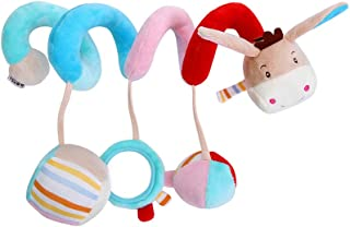 Anniston Kids Toys, Lovely Cartoon Animal Spiral Shape Crib Wrap Decor Infant Baby Rattles Toy Baby Toys Perfect Fun Time ...