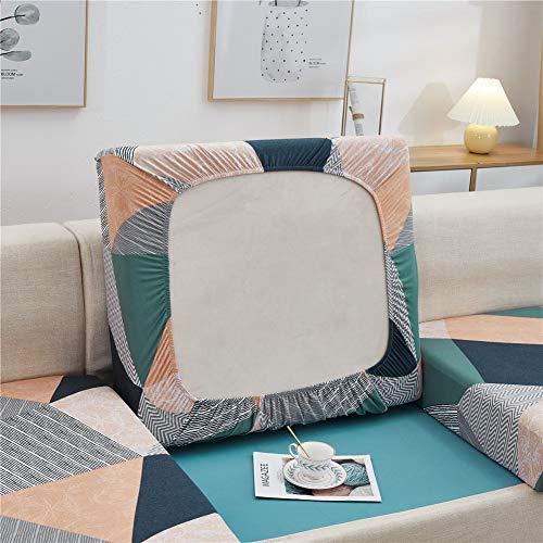 Fundas de cojín para sofá y sofá, elásticas, de repuesto para cojines individuales (naranja, grande, 4 plazas)